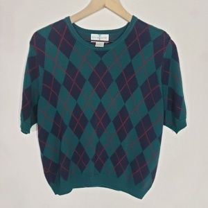 Christopher & Banks Womens Plaid Sweater Size L